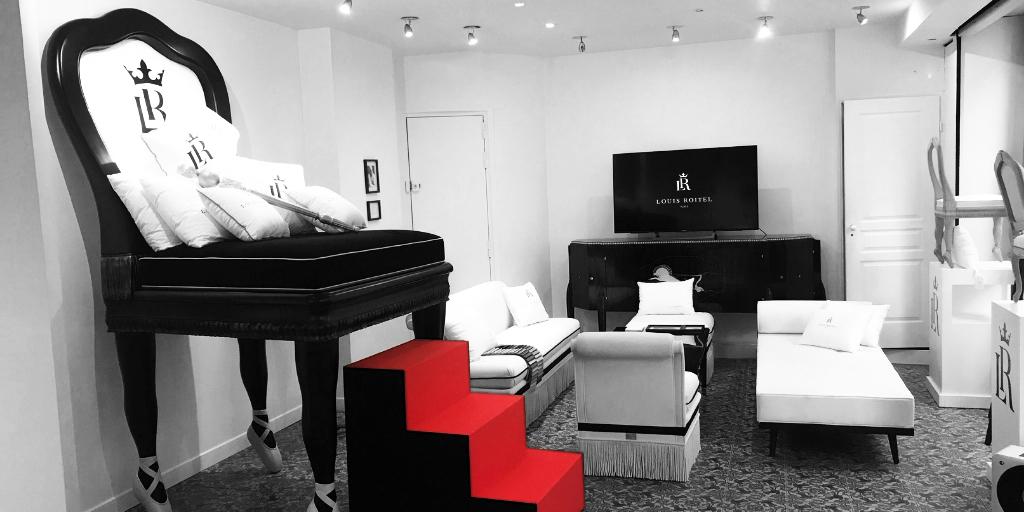Pop Up store louis roitel, sièges de luxe personnalisables