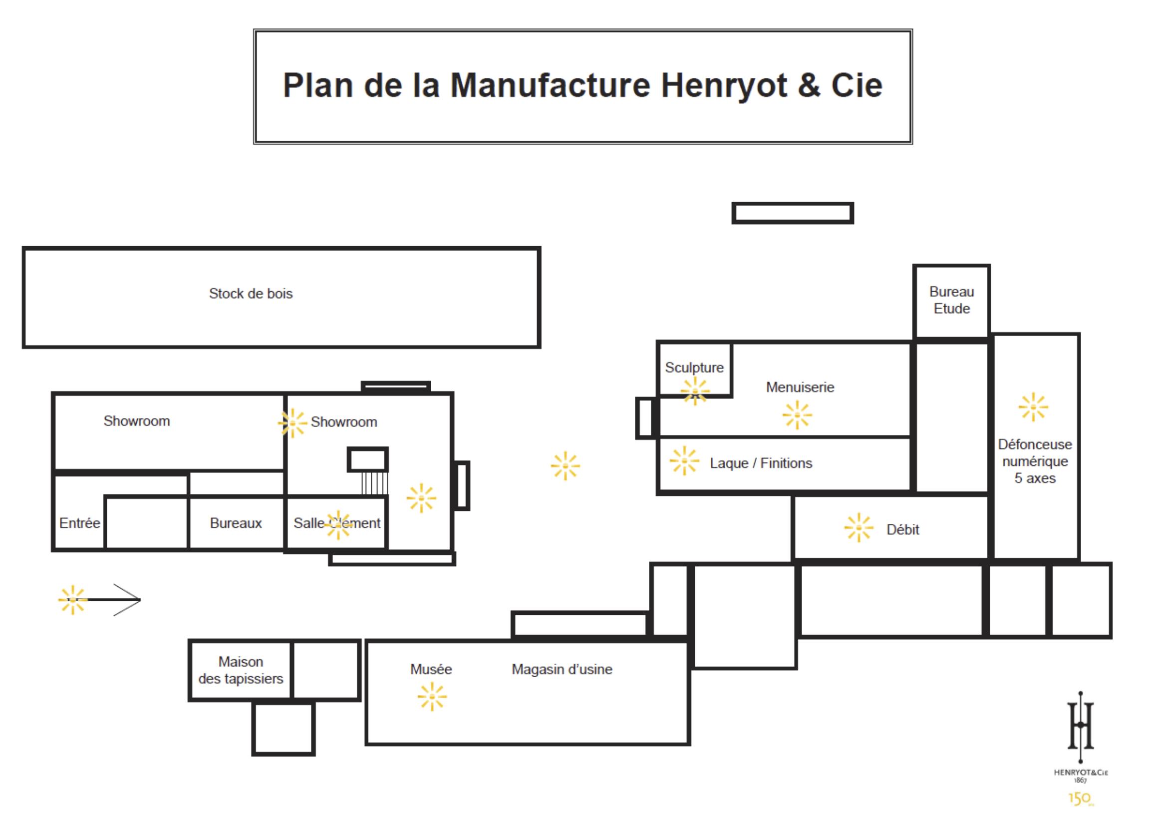 Plan manufacture louis roitel henryot & cie chaises et fauteuils haut de gamme fabrication française